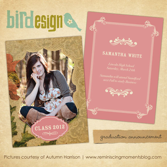 Sentimental Memories | Graduation announcement