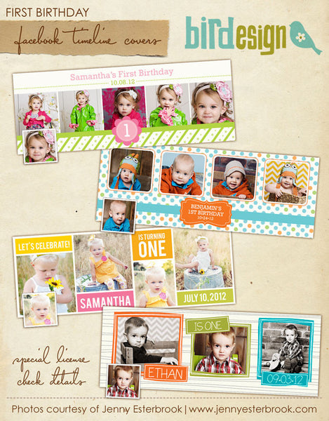 Facebook covers bundle | My first birthday