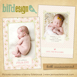 Birth Announcement | Julia Eve