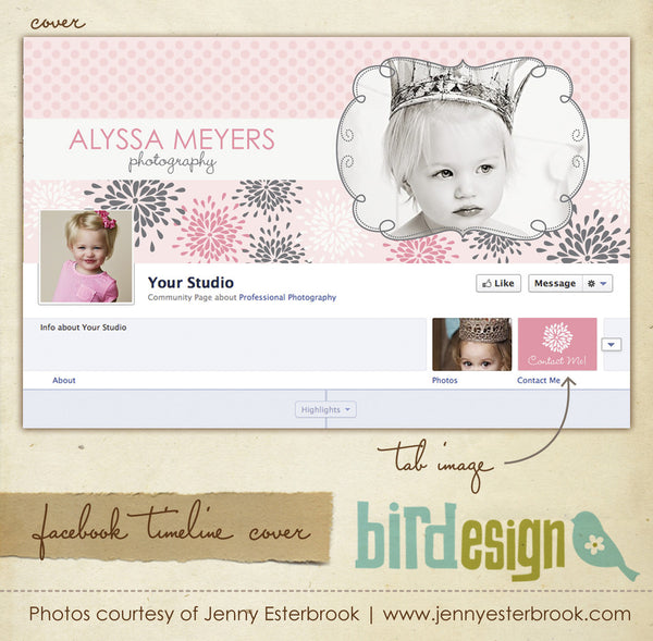 Facebook timeline cover | Dots and blossoms
