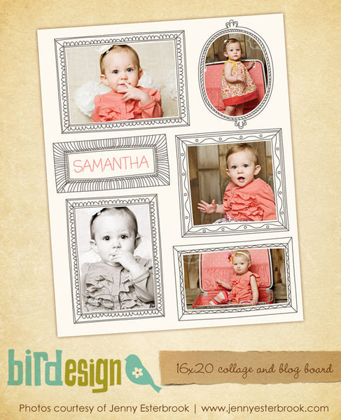 16x20 collage & blog board | Baby portraits