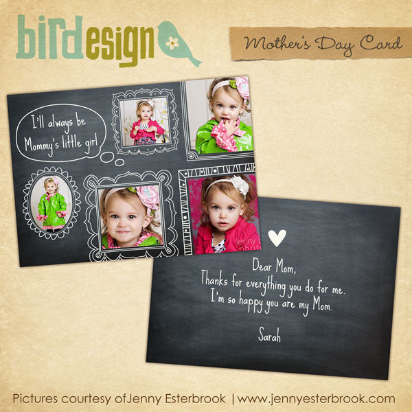 Mother's day Photocard | Little girl