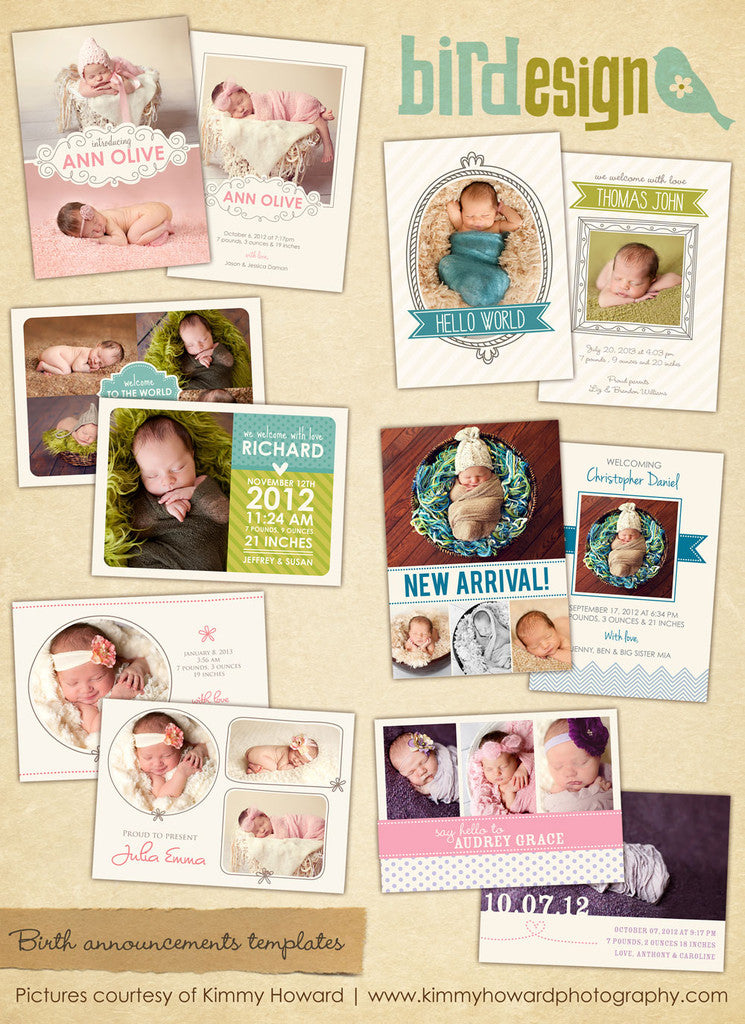 Birth Announcements Bundle | Sweet Sunrise