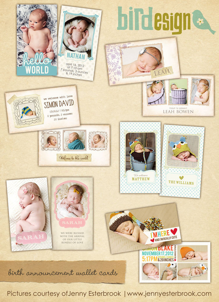 Baby Wallet cards bundle | Welcome