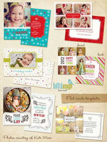 Holiday Photocards Bundle | Colorful cards