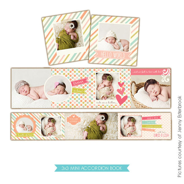 Baby accordion mini 3x3 | Baby love
