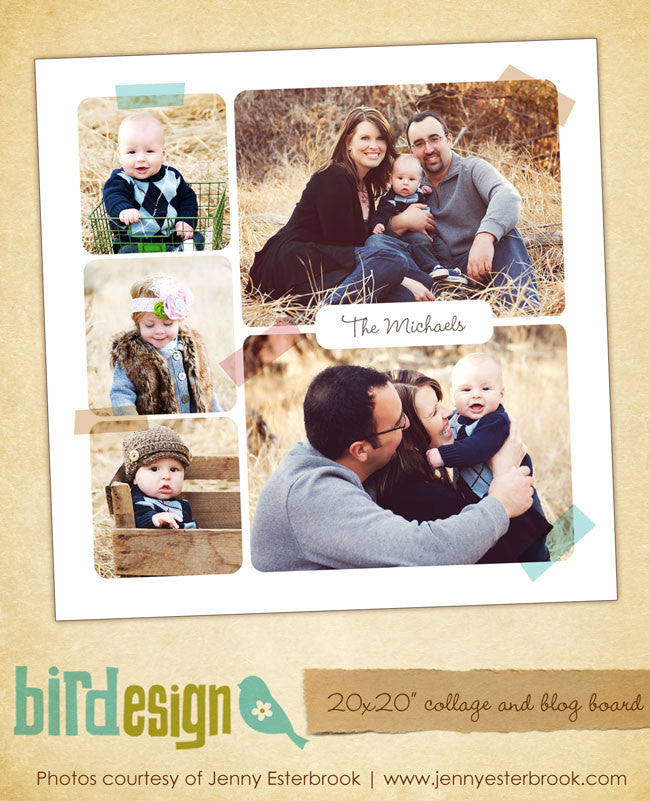 20x20 collage & blog board | Family trips