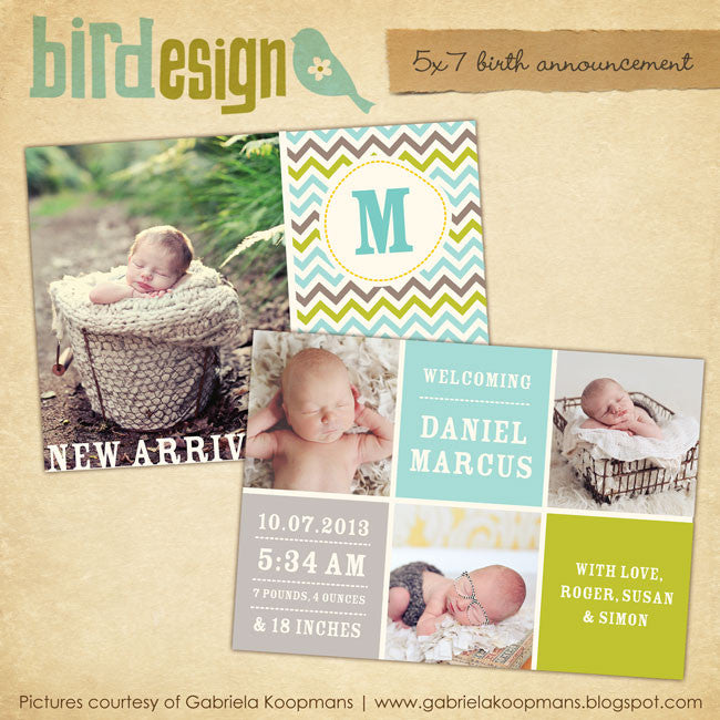 Birth Announcement | Chevron baby