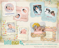 Birth Announcements Bundle | Baby paradise