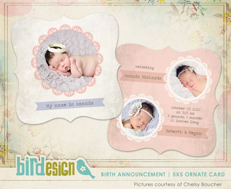 Birth Announcement | Little flower