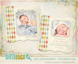 Birth Announcement | Little button