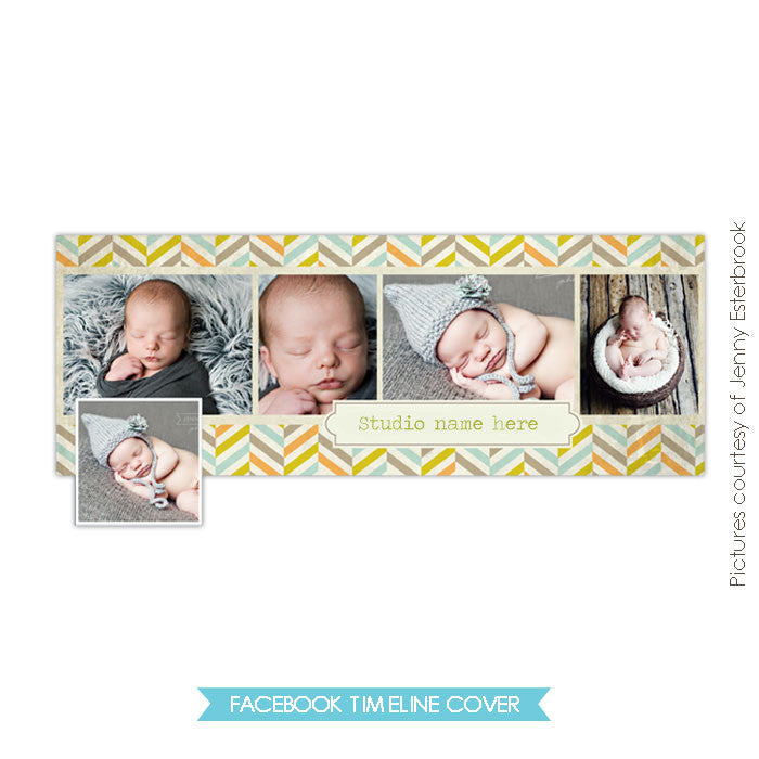 Facebook timeline cover | Boyish chevron
