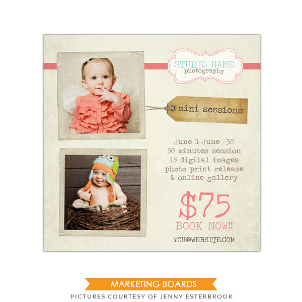 Photography Marketing board | Vintage portraits