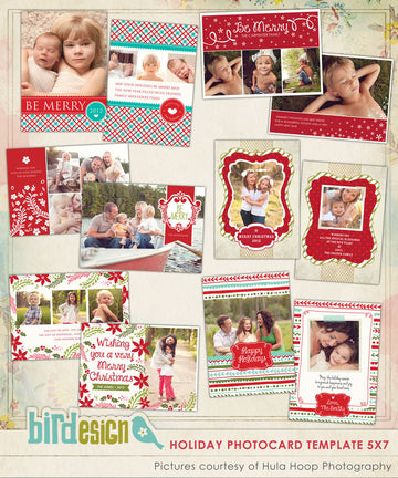 Holiday Photocards Bundle | Christmas Spirits Set
