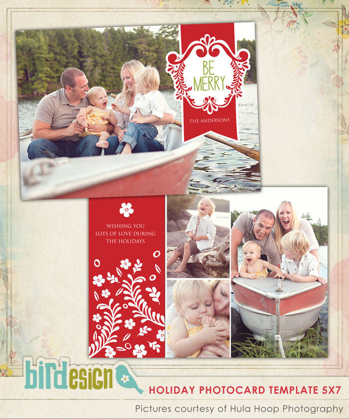 Holiday Photocard Template | Merry Family