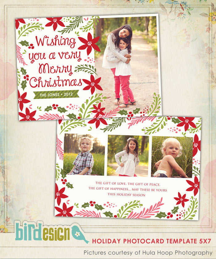 Holiday Photocard Template | Christmas Spirit