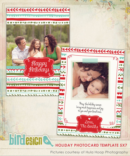 Holiday Photocard Template | Colorful Holidays