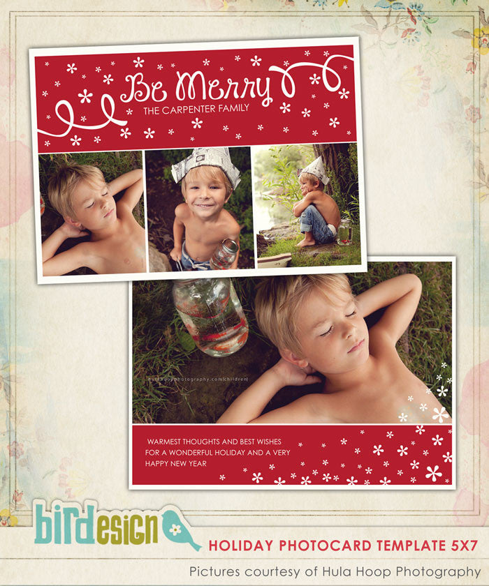 Holiday Photocard Template | Christmas Dream
