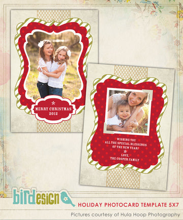 Holiday Photocard Template | Classic Holiday