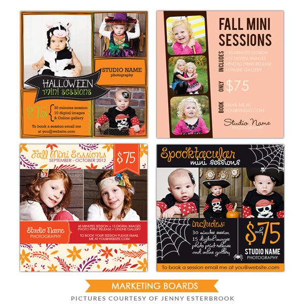 Photography Marketing boards | Fall Collection
