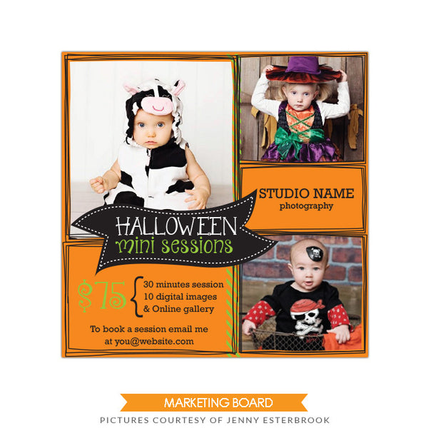 Photography Marketing board | Halloween board