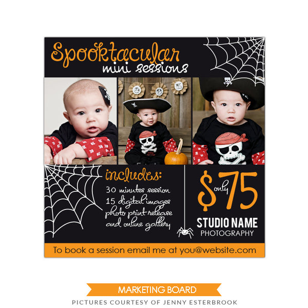 Photography Marketing board | Spooktacular kids