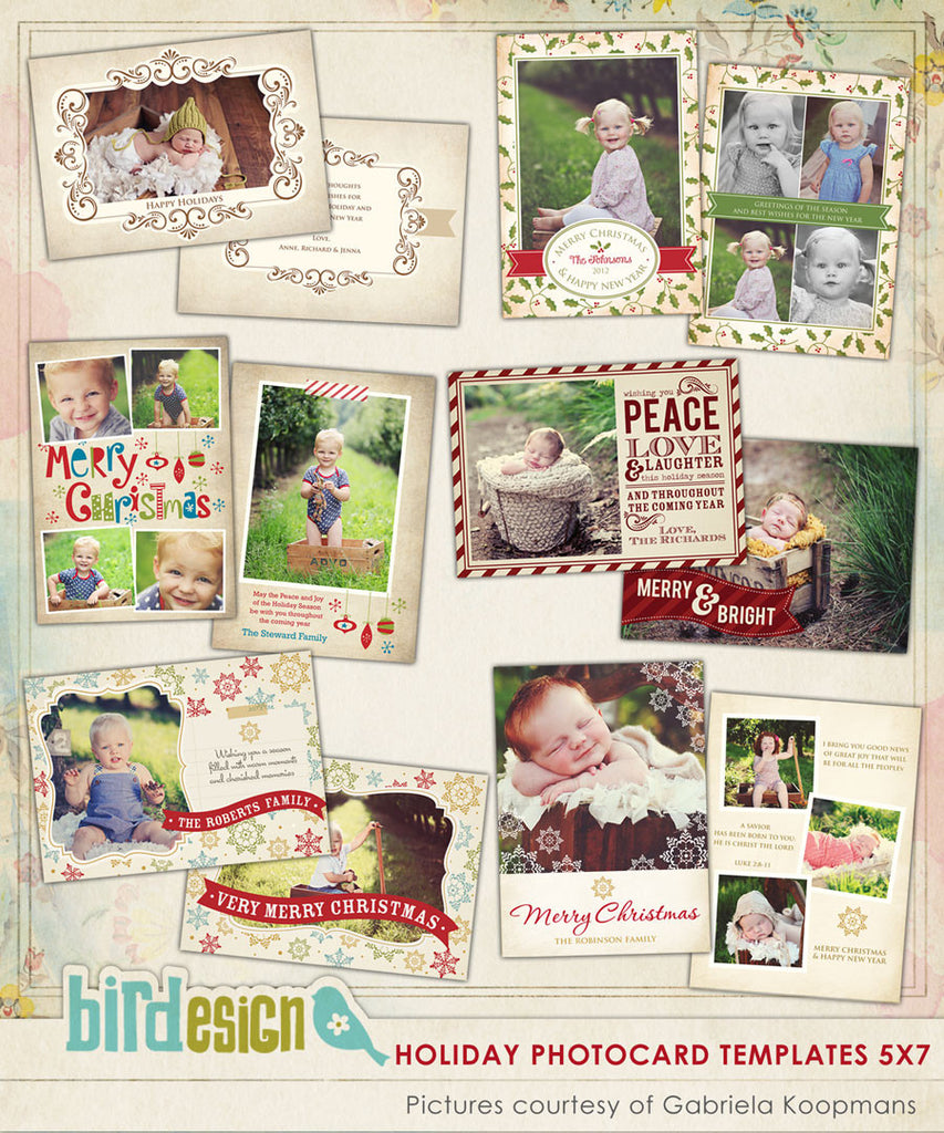 Holiday Photocards Bundle | Vintage Holidays