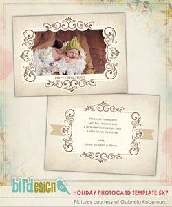 Holiday Photocard Template | Glory & Peace
