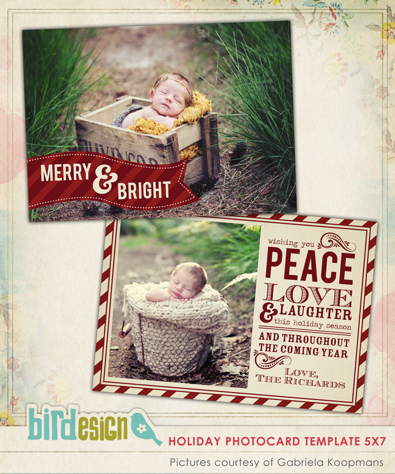 Holiday Photocard Template | Classic Wishes