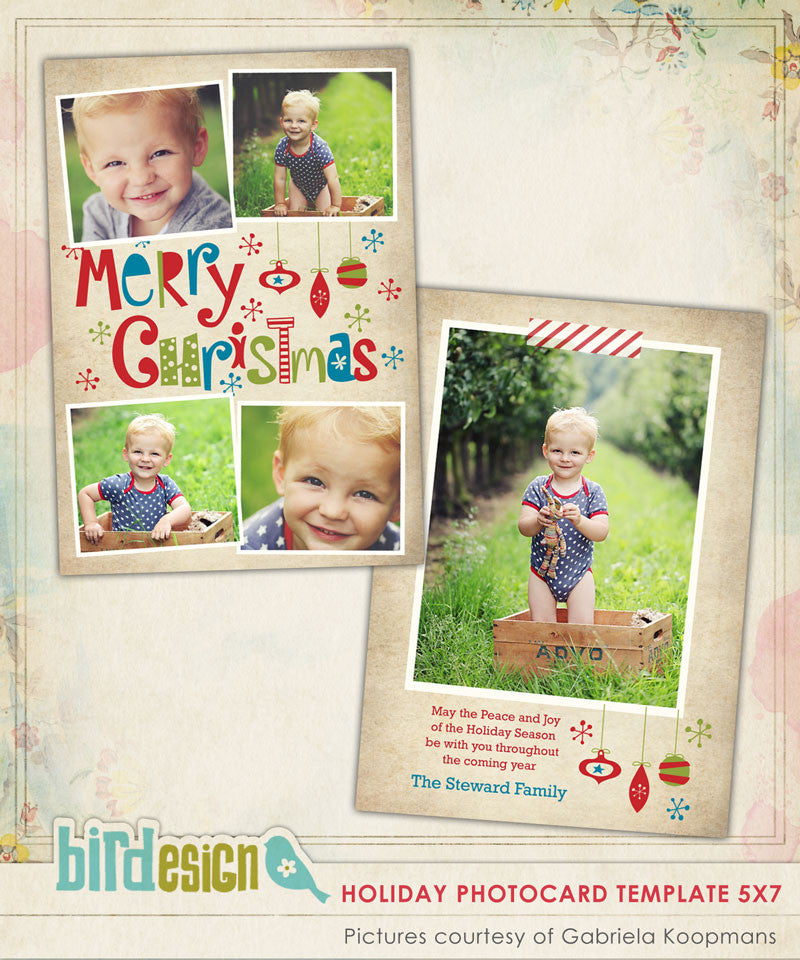 Holiday Photocard Template | Funny Moments