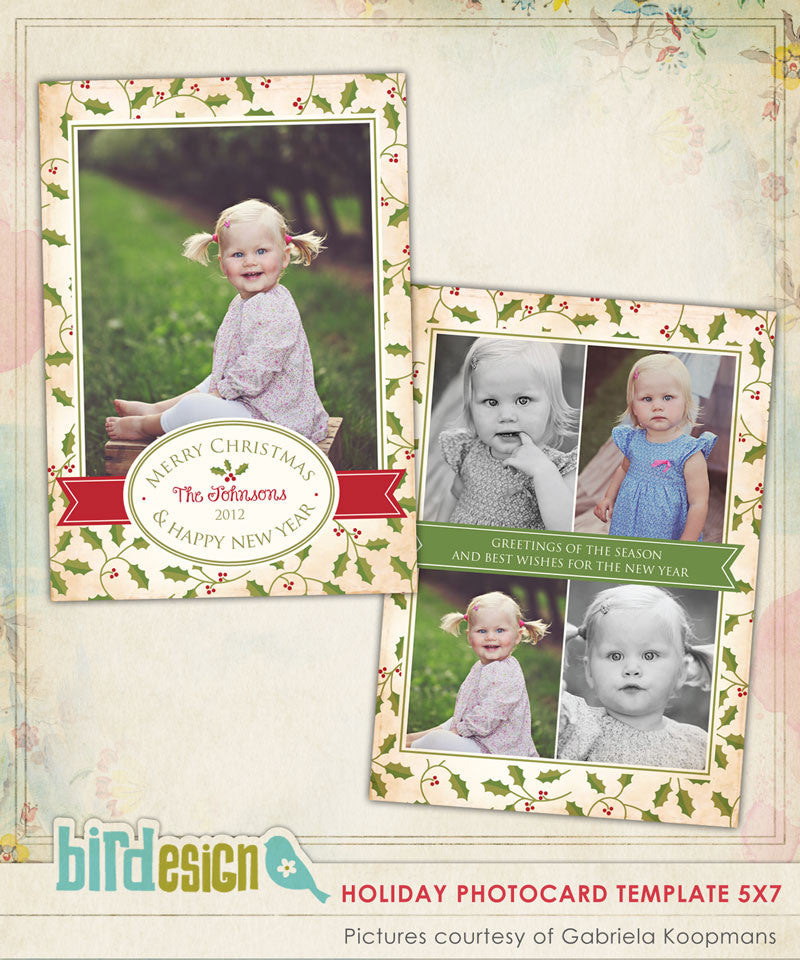 Holiday Photocard Template | Sweet Mistletoe
