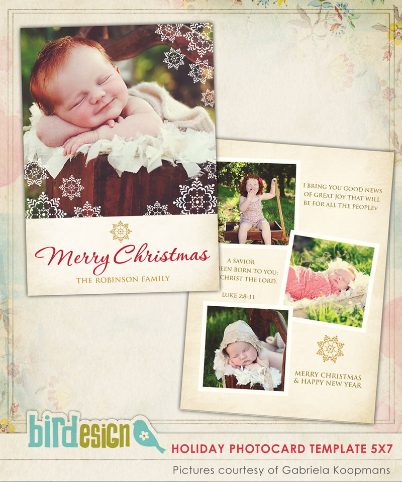 Holiday Photocard Template | Great news