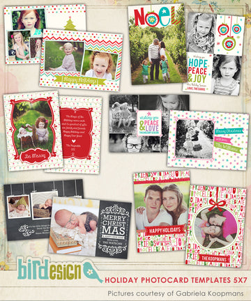 Holiday Photocards Bundle | Funky Christmas