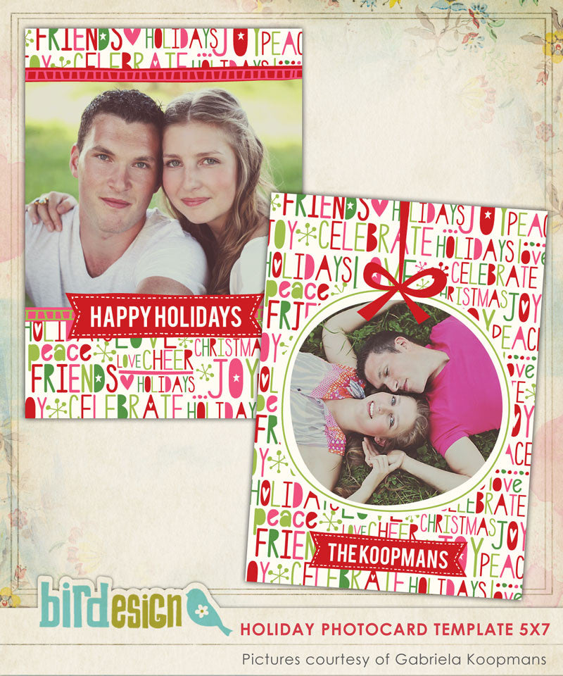Holiday Photocard Template | Joyful celebrations