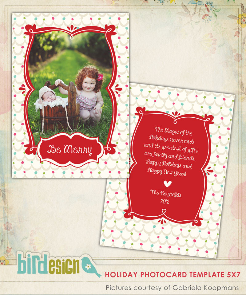 Holiday Photocard Template | Magic Season