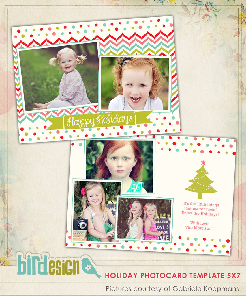 Holiday Photocard Template | Little things