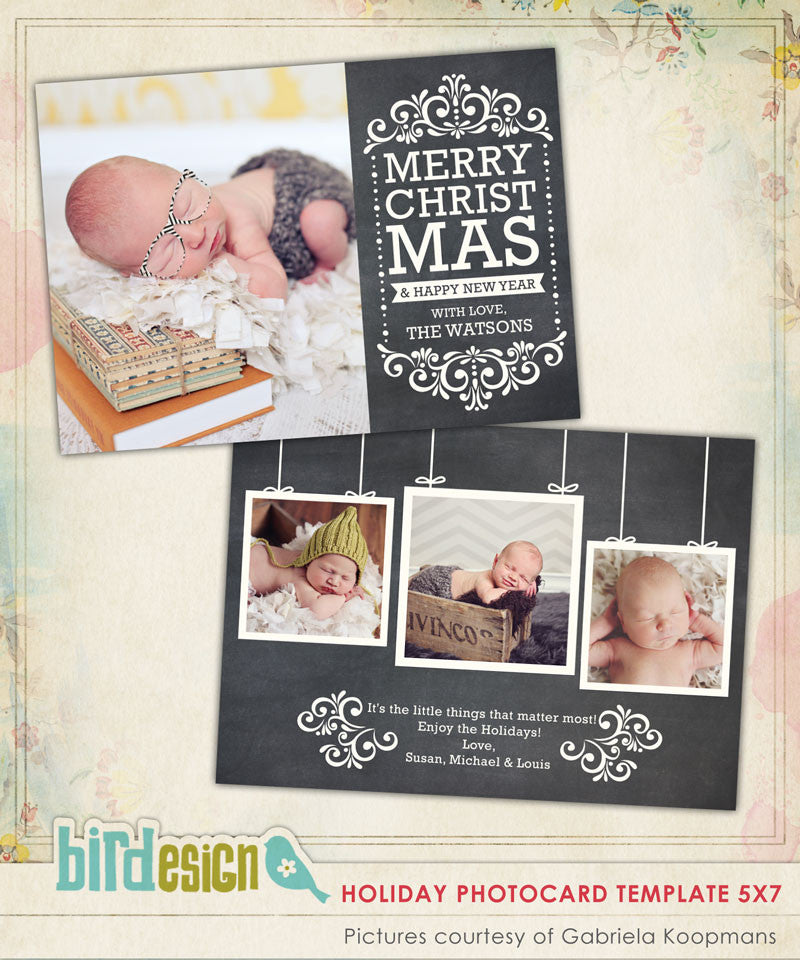 Holiday Photocard Template | Peaceful news