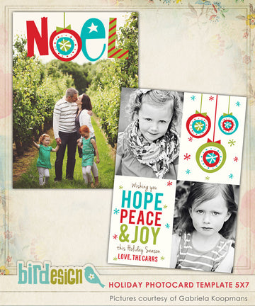 Holiday Photocard Template | Noel