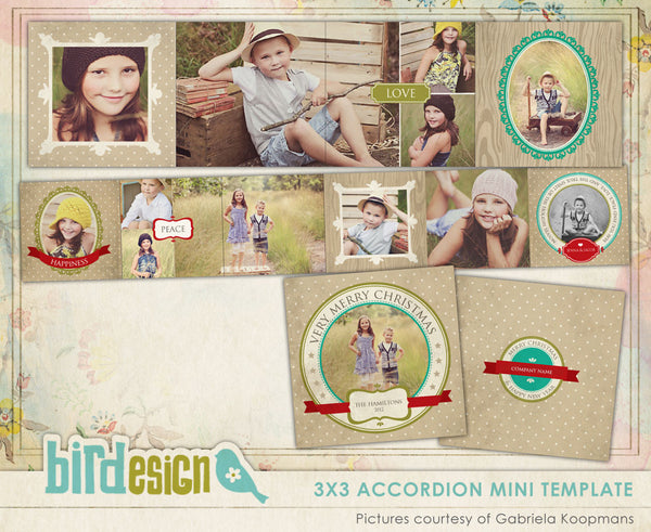 Accordion mini 3x3 | Nostalgic Christmas