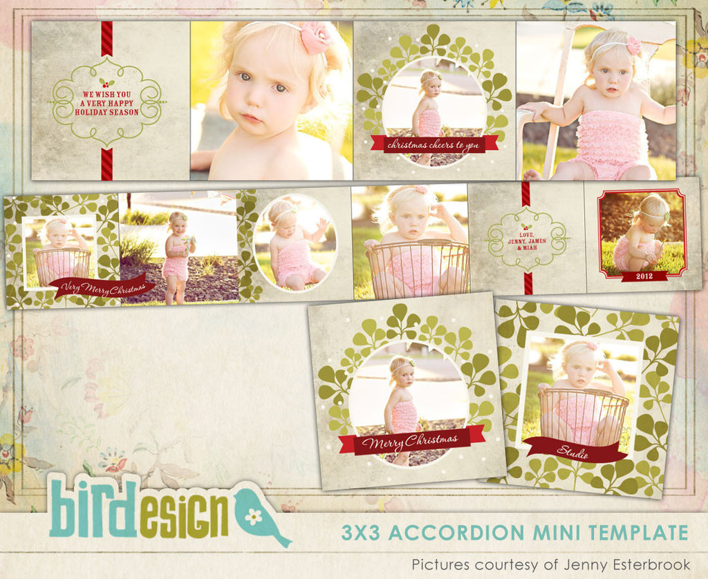 Accordion mini 3x3 | Green Holidays