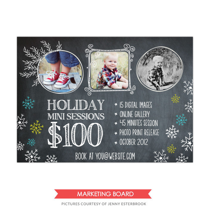 Photography Marketing board | Santa Mini sessions
