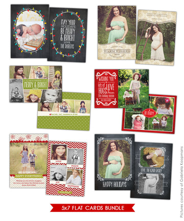 Holiday Photocards Bundle | Shining with love