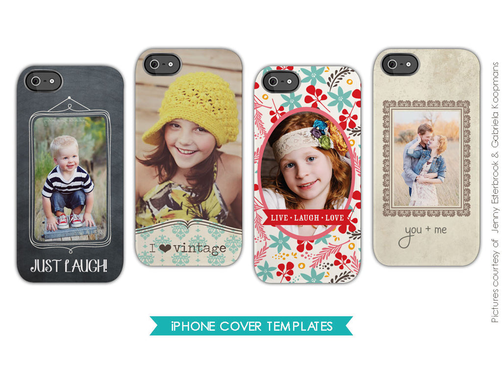 Iphone cover templates | Love vintage