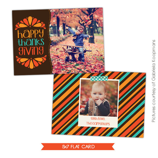 Thanksgiving Photocard Template | Thankful season