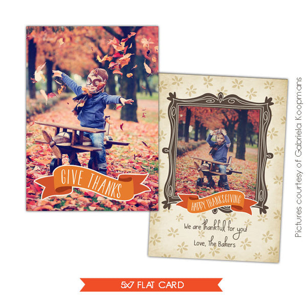 Thanksgiving Card Template | Fall times