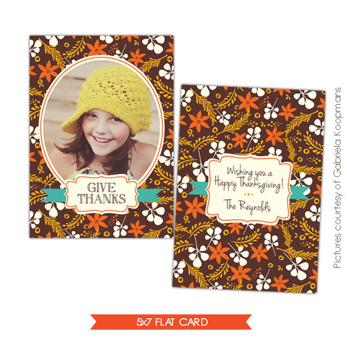 Thanksgiving Card Template | Autumn collage