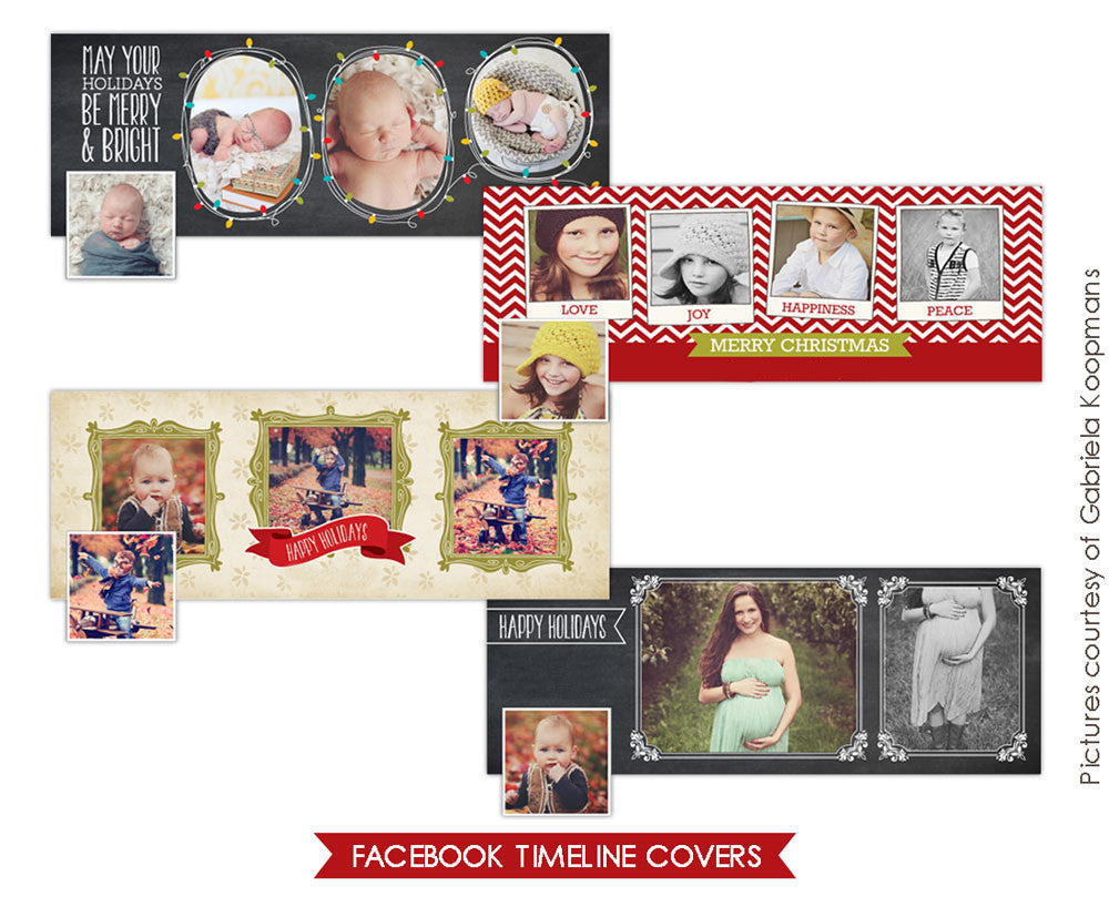 Facebook covers bundle | Winter greetings