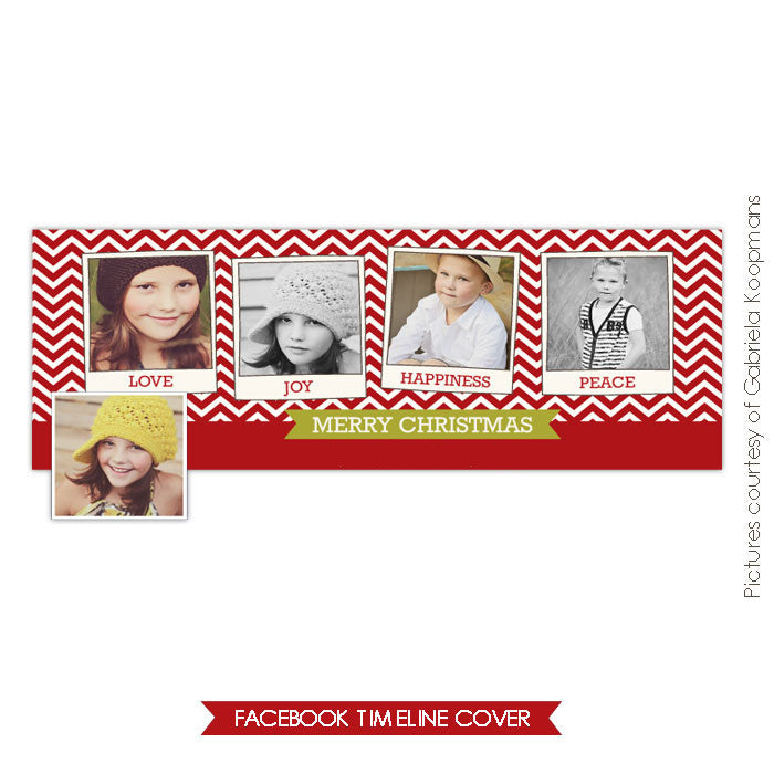 Facebook timeline cover | Red chevron