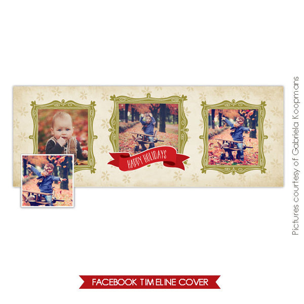 Facebook timeline cover | Holiday frames
