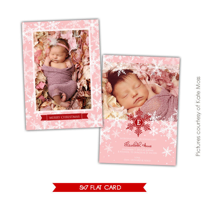 Holiday Photocard Template | Snow dreams